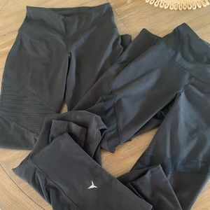 3 pairs of 7/8 length old navy workout leggings
